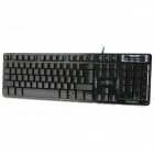 V-300 USB Wired 104-Key Gaming Keyboard w/ Backlit - Black + Silver