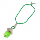 Bottle Type Rhombus Style Perfume Car Ornament - Green (Apple Flavor)