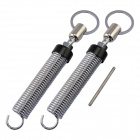 DS-25 Adjustable Stainless Car Lid Lifting Spring - Silver + Black