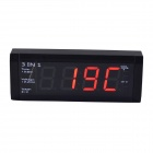 WF-518 3-in-1 Car Voltage Monitor + Digital Clock + Digital Thermometer w/ Car Charger (DC 12V/24V)