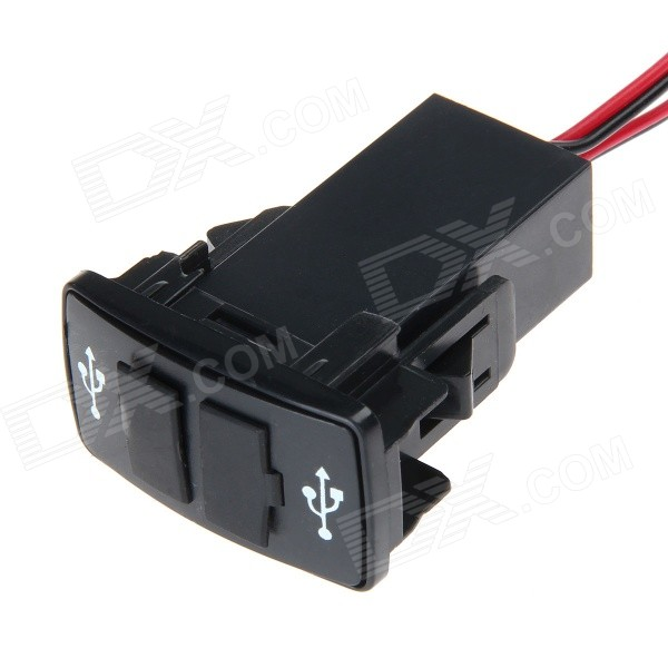 DIY 12V 2.1A Dual USB Port Auto Power Charger für HONDA - Schwarz