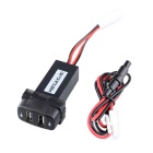 2.1A Dual USB Port Power Socket Mobile GPS Car Charger for Mitsubishi  - Black