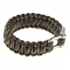 Outdoor Emergency U-shaped Shackle Paracord Bracelet w - Army Green
