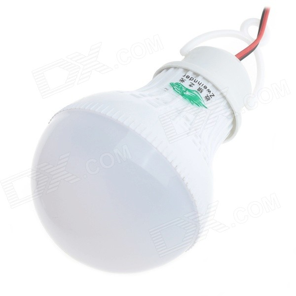 Zweihnder W070 Alligator Clip 5W LED Globe Bulb Cold White Light 400lm
