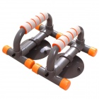 POVIT PS-2203 Fitness Push Up Frame Arm Muscle Training Bars w/ Suction Cup - Grey + Orange