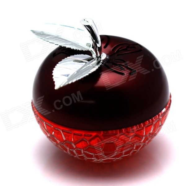 Crystal Apple Style Perfume Bottle Container / Air Freshener for Car - Red + Silver (Apple Taste)
