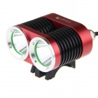 UltraFire K2C XM-L T6 LED Bike Light Headlight Cool White 1800lm 3-Mode - Red + Black (4 x 18650)