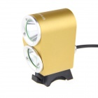 UltraFire K2G XM-L T6 LED велосипед света фар Cool White 1800lm 3-Mode - Золотой (4 х 18650)