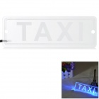 "BT-0922 Blue + Red Light ""TAXI"" Car LED Board w/ Car Charger - White (DC 12V)"