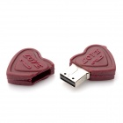 USB - Qkl Double Heart Chocolate Shaped USB 2.0 Flash Drive - кофе ( 32GB)