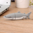USB-HT Shark Style USB 2.0 Flash Drive - Grey + White (8GB)