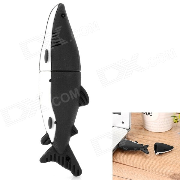 Cute Dolphin Shaped USB 2.0 Flash Drive - Black + White (32GB)