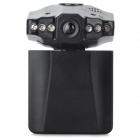 "2.5"" TFT HD 720P CMOS 120' Wide-Angle IR Night Vision Car DVR Loop Recorder Camcorder - Black"