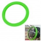 Car Skin Textured Silicone Steering Wheel Cover - Green