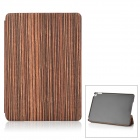 Wood Pattern Protective PU Case w/ Stand for IPAD AIR 2 - Brown