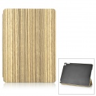 Wood Pattern Protective PU Case w/ Stand for IPAD AIR 2 - Beige + Brownish Black