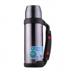 Outdoor Travel 304 Stainless Steel Dual-Layer Vacuum Flask Bottle - Grey + Black (1000mL)