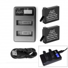 Fat Cat Smart LCD Hi-Speed USB Dual Charger + 2x1650mAh 401 Batteries Travelling Set for GoPro Hero4