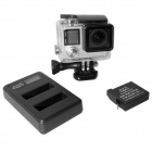 fat cat lader + AHDBT-401 accu's voor GoPro held 4 - zwart + wit
