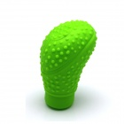 Silicone Elliptical Style Automobile Gear Lever Head Cover - Green