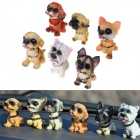 Cute Swing Rocking Dog Style Car Decoration Toy (6 PCS)