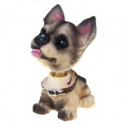 Cute Swing Rocking Dog Style Car Decoration Toy (6PCS) - Multi-color