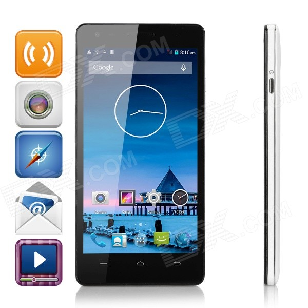 meer fijne A1 Android4.4 quad-core 4G telefoon w / 1GB RAM, 8GB ROM - wit