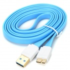 USB 3.0 Type-A Male to Micro-B Male Data Cable for Hard Disk - Blue + White (1m)
