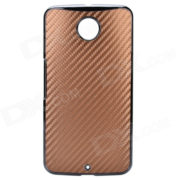 Protective Back Case Cover for Google LG Nexus 6 - Black + Brown
