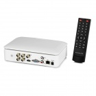 "7"" LCD D1 4-CH H.264 Video DVR w/ HDMI, USB, P2P, EU Plug - White"