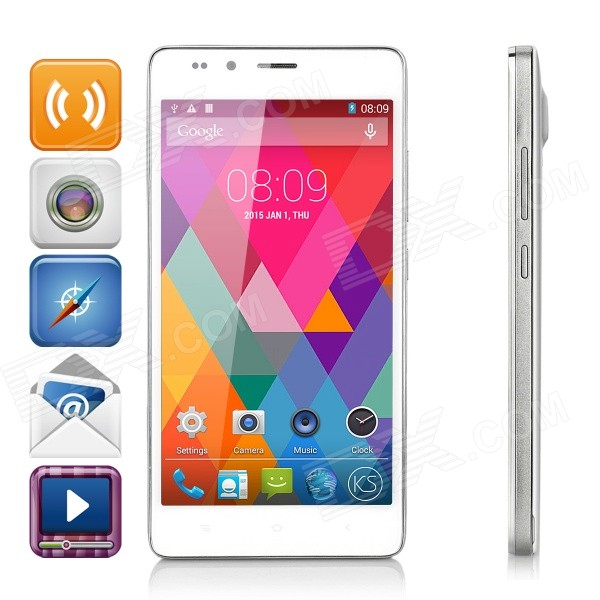Kingsing T8 Octa-Core Android 4.4.2 Phone w/ 1GB RAM, 8GB ROM - White