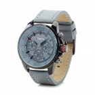 CURREN 8187 Men's Stylish PU Leather Band Analog Quartz Wrist Watch - Grey + Black (1 x 626)