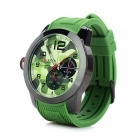 CURREN 8182A Men's Silicone Band Analog Quartz Sports Watch - Camouflage + Black + Green (1 x 626)