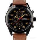 CURREN 8156 Men's Fashion PU Leather Band Analog Quartz Watch - Black + Brown (1 x 626)