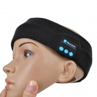 Rechargeable Flexible Sports Bluetooth Wide Head Band w / Mic - Noir