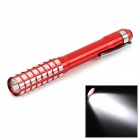 Medical Doctor Nurse 30lm White Mini LED Pen Light Penlight Flashlight w/ Clip - Red (2 x AAA)