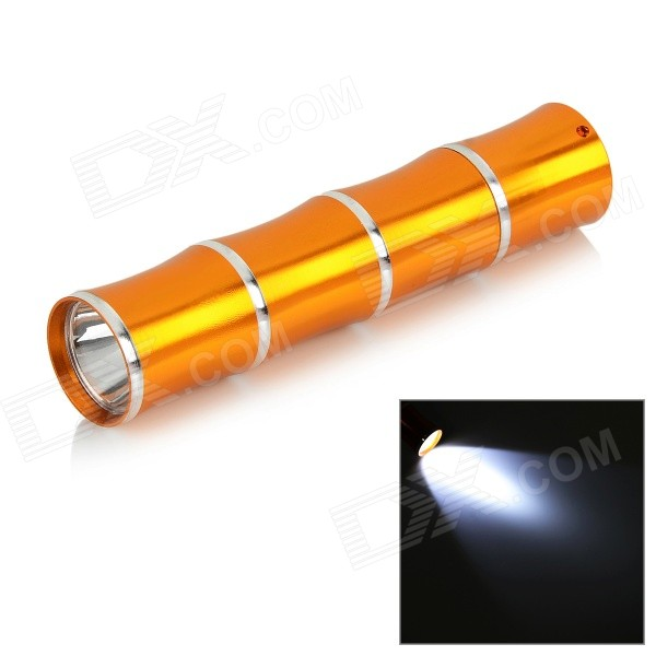 Bamboo Joint Style 35lm Neutral White LED Flashlight - Golden + Silver