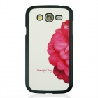 Half a Blush Flower Pattern PC Back Case Cover for Samsung Galaxy Grand i9082 - White + Red