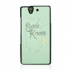 Protective Patterned PC Back Case Cover for Sony Xperia Z / L36H - Light Green