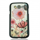 Flowers Pattern PC Back Case Cover for Samsung Galaxy Grand i9082 - White + Pink
