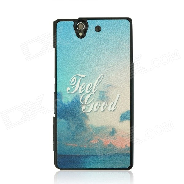 PC Back Case for Sony Xperia Z / L36H - Blue + Multicolor