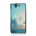 Romantic Seaside Pattern Protective PC Back Case Cover for Sony Xperia Z / L36H - Blue + Multicolor