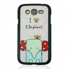 Crown Cute Little Elephant Pattern PC Back Case for Samsung Galaxy Grand i9082 - Pink + Red