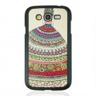 Girl Pattern Protective PC Back Case Cover for Samsung Galaxy Grand i9082 - Black + Red + Multicolor