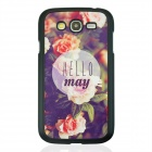 Flower Pattern Protective PC Back Case Cover for Samsung Galaxy Grand i9082 - White + Purple