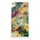 """Love You So Much"" + Flowers Pattern Protective PC Back Case for Huawei P6 - Yellow + Multicolor"