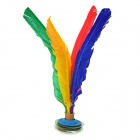 Outdoor Training Shuttlecock Feather Kick Toy - Red + Green + Blue + Deep Pink