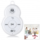 2-in-1 Bluetooth V3.0 Remote Shutter Release & Music Controller for Android / IOS Cellphone - White