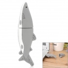 Cute Dolphin Shaped USB 2.0 Flash Drive - Grey + White (32GB)