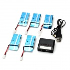 Balance Charger + 600mAh 25C Li-polymer Batteries Set - Blue + Black